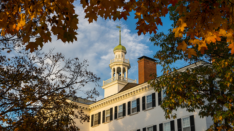 Dartmouth Hall in the fall