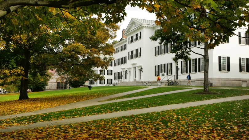 Dartmouth Hall in fall