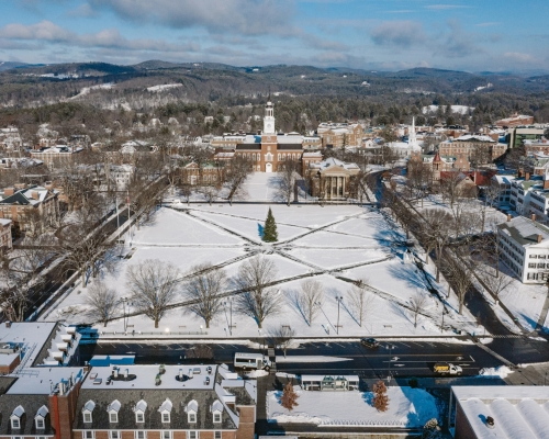 Dartmouth campus from above